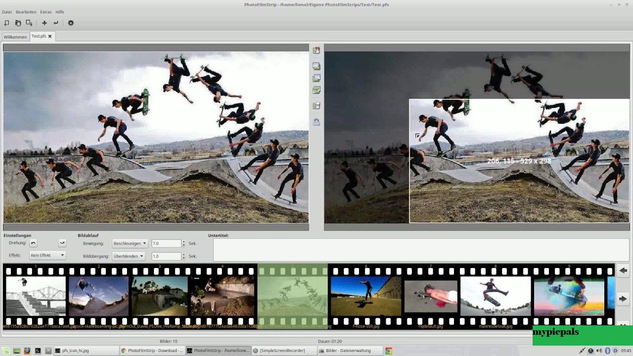 PhotoFilmStrip : Pembuat Slideshow Gratis untuk Windows 10